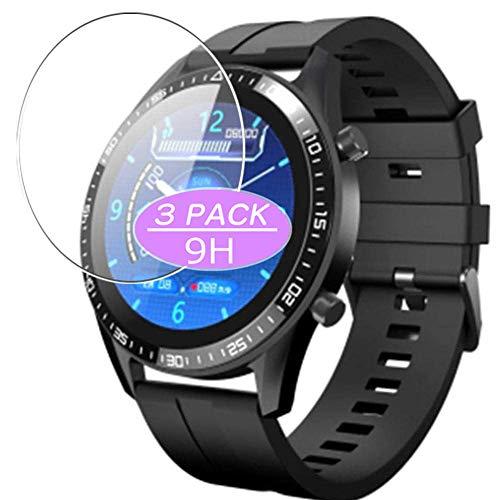 Vaxson - Pellicola protettiva in vetro temperato, compatibile con smartwatch TagoBee L28, pellicola protettiva 9H, confezione da 3