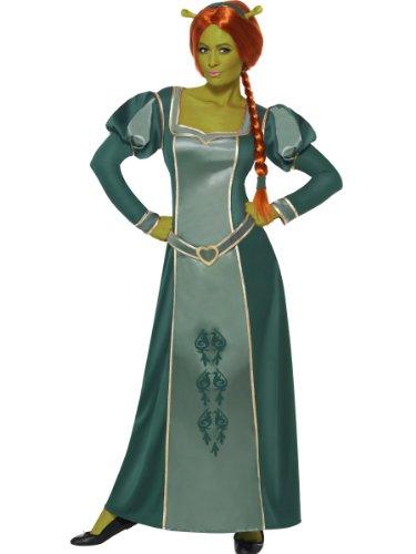 Smiffy's Principessa Fiona Costume da Shrek, Dimensioni 40-42, con Abito, Parrucca e Fascia