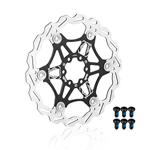 EASTERN POWER Bicicleta Freno Disco, Disco de Freno 160mm 6 Tornillos(Incluye), Flotante Disco Freno para Hope/SRAM/Shimano/Hayes/Magura/Avid Montaña/MTB Bici, Negro