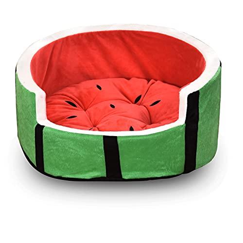 Cute Watermelon Shape Cat Dog Sofa Bed Pet House Nest Cave Puppy Sleeping Mat