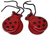 rojo Castañuelas para adultos 2 pares de castañuelas Castañuelas rojas Castañuelas españolas Color de lunares Colores tradicionales españoles Regalo de recuerdo de España Percusión de mano
