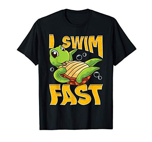 Cita del nadador rápido de la tortuga graciosa Camiseta