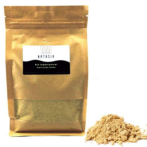 Natasia BIO Ingwer Pulver (500 GR) - Ingwer gemahlen - schonend getrocknet - Ideal für Ingwer Tee und Kochen geeignet