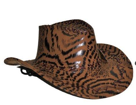 Das Kostümland Cowboyhut im Tigerlook