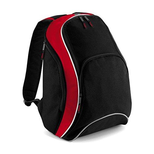 Bag Base Mixte Bg571bkcr Teamwear Sac à Dos, Noir/Rouge Classique/Blanc, Medium