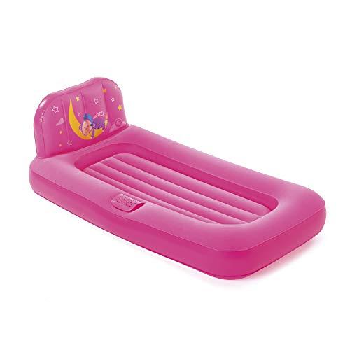 Bestway 93548 Fisher Price aufblasbares Kinder Luftbett Traumlicht pink, mit LED-Projektor, 132x76x46 cm, Color, 132 x 76 x 46 cm