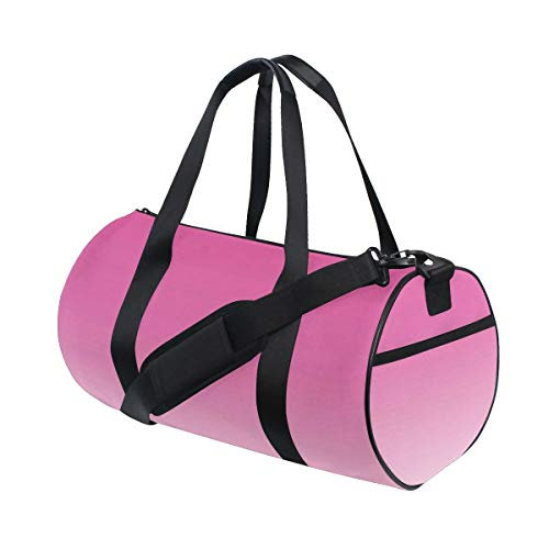 HARXISE Bolsa de Viaje,Ombre Digital Hot Pink Design Print,Bolsa de Deporte con Compartimento para Sports Gym Bag