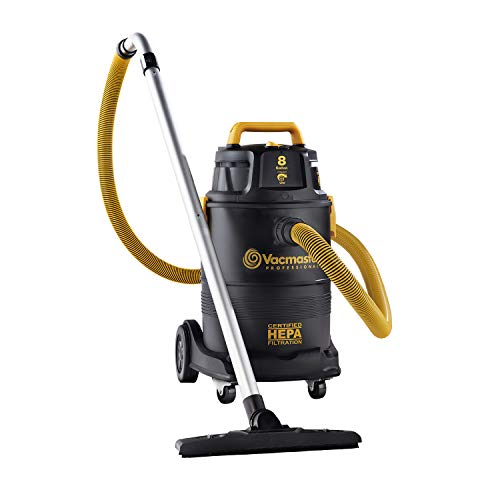 Vacmaster Pro 8 Gallon Certified HEPA Filtration Wet/Dry Shop Vac