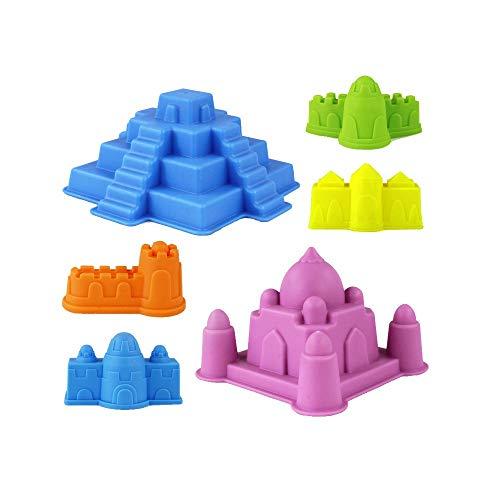 YUWEX 6 Stück Sandspielzeug Set Schlosssandformen Strandspielzeug für Kinder Junge Mädchen Summer Water Toys