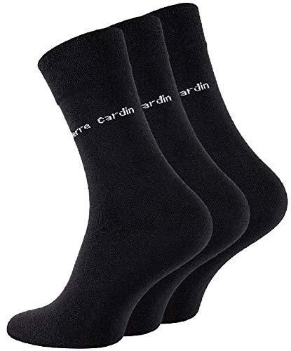 Pierre Cardin Socken schwarz Herren Business Socken Baumwoll Socken Anzug Socken 3 / 6 / 9 / 15 Paar Größe 39-42 / 43-46 (43 - 46 / 15 Paar)