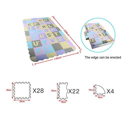 FANG Baby Krabbeln Matte Bildungs-Puzzle Schaum weich ineinander greif EIN Gamepad Brett für das Crawling und Spiele (142cm * 226cm * 1cm),C