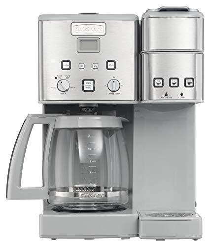 Cuisinart SS-15CGRP1 Coffee Center 12-Cup Coffeemaker and Single-Serve Brewer, Light Grey