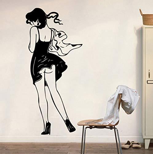 Moda Chica Bolsa Tienda Etiqueta De La Pared Fitness Dormitorio Belleza Mujer Ropa Tienda Pared Calcomanía Gimnasio Yoga Vinilo Decoración Del Hogar 85 Cm De Alto X 38 Cm De Ancho