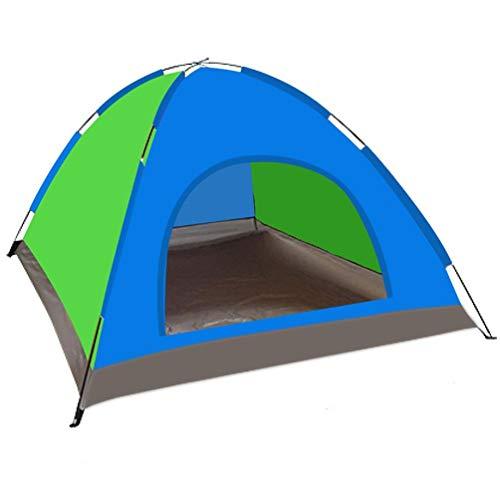 Tienda al aire libre 5-6 personas Erección manual Tienda de campaña Tienda de una sola capa Tela impermeable para el medio ambiente para la playa, al aire libre, viajes, excursiones, campamentos, Pesc