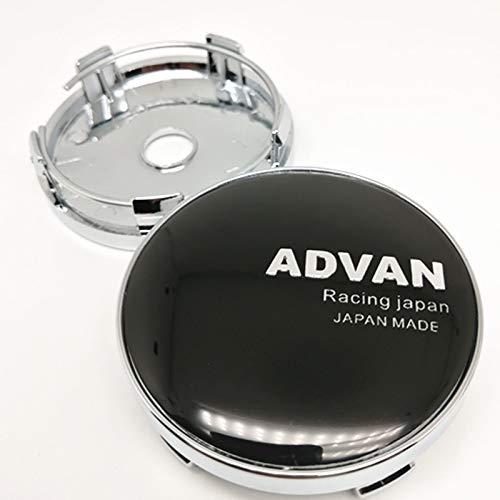 Cubierta del cubo de rueda 4pcs 60mm Auto Wheel Center Hubcaps para Advan Racing Japan Car Styling Rims Cubierta del centro Cap Emblem 56mm Badge Pegatinas Cubierta central (Color : C)