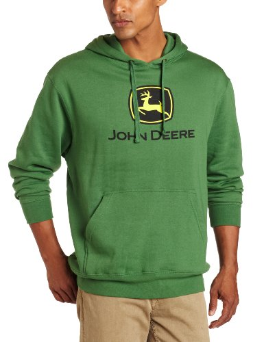 John Deere Herren Kapuzenpullover mit Logo Logo - Grün - Groß
