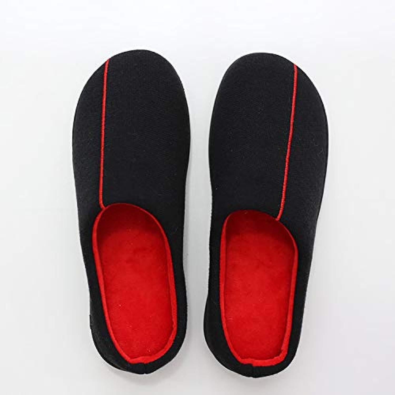 YHUJH Home Herren Paar Baumwolle Schuhe Dicke einfarbig Hause handgefertigte Baumwolle Schuhe Rutschfeste Verschleiß Papa Schuhe (Farbe   schwarz, Größe   M)  | Verkauf