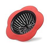 KUFUNG Sink Strainer, Basket Stainless Steel Bathroom Sink, Utility, Slop, Kitchen and Lavatory Sink Drain Strainer Hair Catcher (Red)