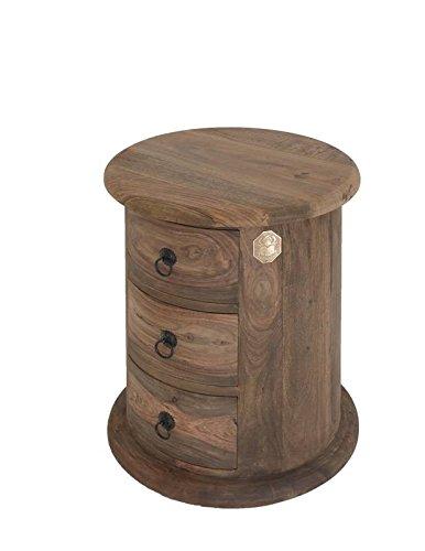 MASSIVMOEBEL24.DE Massivmöbel Kolonialstil Palisander geölt Kommode oval Sheesham grau Kolonial massiv Holz Möbel LEEDS #17