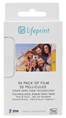 50 Pack of film Made exclusively for the 2x3 Lifeprint Photo and Video Printer ZINK Zero Ink technology means you never have to purchase ink for Lifeprint Sticky backed film allows you to easily stick your prints anywhere you'd like Lifeprint's Augme...