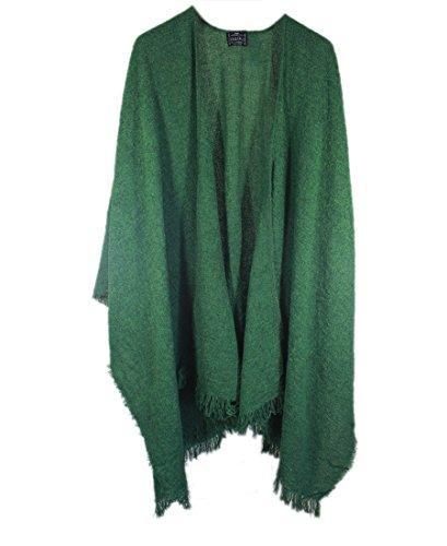 Wrap, Ruana Wraps for Women, Wool Shawl, Irish Gifts for Her, Biddy Murphy, Made in Ireland, 85% Lambswool, 54' X 72', Soft, Lightweight, Warm, Kelly Green