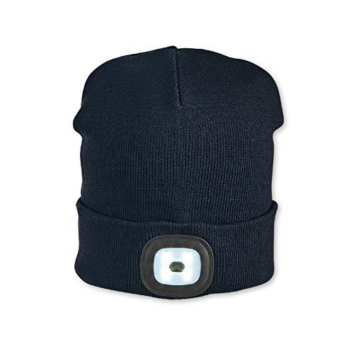 Sterntaler Mütze für Jungen mit Leuchtfunktion, Gefüttert, Alter: ab 18 Monate, Größe: 51/53, Blau (Marine)