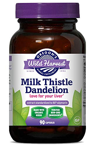 SUPPORT LIVER HEALTH - Certified Organic Milk Thistle, Burdock, Artichoke, Dandelion, and Milk Thistle seed extract supplies pure silymarin, standardized to 80%, freshly powdered and prepared with love for optimum potency PROTECTIVE NUTRITIONAL SUPPO...