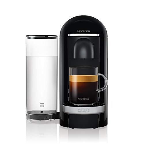 Krups Nespresso XN9008 Vertuo Plus Kaffeekapselmaschine, Schwarz/Edelstahl, 1,7 l Wassertank