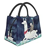 Sloth Alpaca Lunch Bag Reusable Insulated Lunch Box Waterproof Meal Prep Cooler Tote For Women Men Work Picnic Office Outdoor