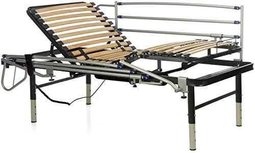 Ferlex - Cama articulada eléctrica geriátrica hospitalaria con Patas Regulables | Barandillas abatibles (105x190)