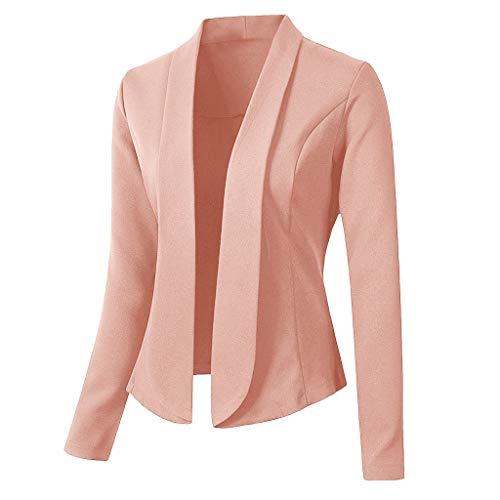 Keepmove Blazers for Women Tops Long Sleeve Jacket Ladies Office Wear Cardigan Coat Shrugs for Evening Dresses Pink …