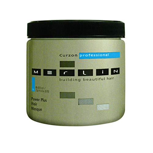 Merlin Power Plus Masque de traitement hebdomadaire pour cheveux et cuir chevelu 450 ml
