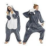 KUNHAN Pijamas Enteros Kiguru-Set Pijamas de Dibujos Animados de Lobo, Mono de una Pieza con Capucha de Dinosaurio, Disfraz de Cosplay, Ropa para Hombre-Lobo_SG
