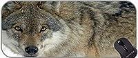 マウスパッド拡張XXL、三角形のオオカミデザイン滑り止めゴムベースマウスパッド