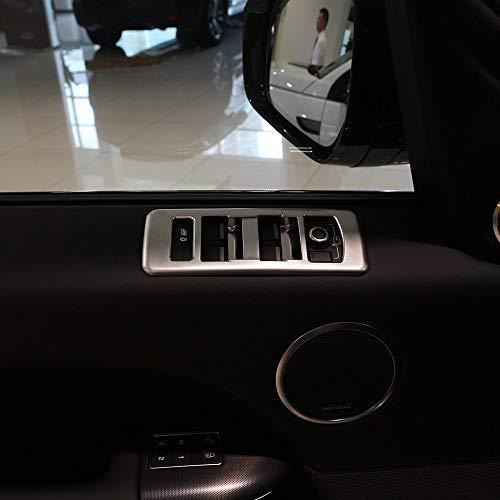 ABS Chrome en Plastique Fenêtre Interrupteur Bouton Bouton Couverture Cadre Trim Trim Accessoires De Voiture Argent Mat pour Range Rover RR Sport 2014-2017