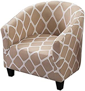 One4all BEIGE CREAM CHAIR COVER stretchhusse Cover suitable for many chairs