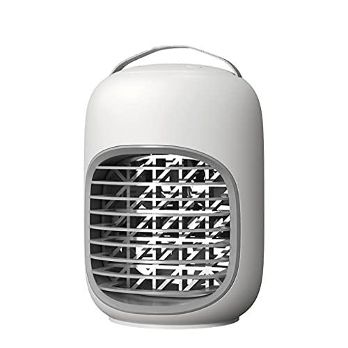 Aiglen Desktop Portable Fan Humidificador Multifunción Fans de Escritorio Mini USB Mini Mobile Air Acondicionadores de Aire (Color : White, Size : 21.1cm*15cm)