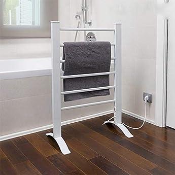 Foto di InnovaGoods portasciugamani Elettrico, Parete e Pavimento, Alluminio, Bianco, 55x 91x 35cm