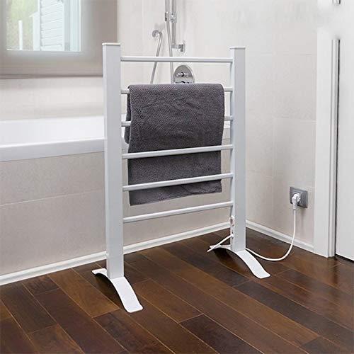 InnovaGoods Toallero Eléctrico, Pared y Suelo, Aluminio, Blanco, 55x91x35 cm