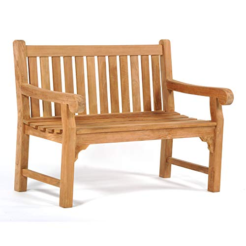 Queensbury 2 Person Teak Garden Bench - 2 Seat Wood Chair