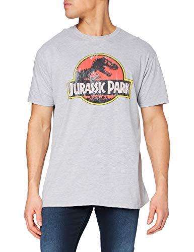 Jurassic Park Distressed Logo Camiseta,...