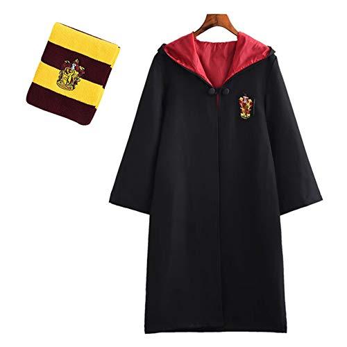 Chruikar Cosplay Mantello Bacchetta Sciarpa Costumi Adulti Bambini Harry Potter Hermione Natale Carnevale Travestimento Gryffindor Ravenclaw