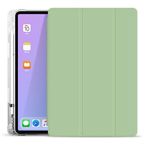 YYLKKB For 2020 iPad Air4 Protective Cover 10.9 With Pencil Holder Skin Feel Transparent Pen Slot Pro11 Suitable For Apple 10.2 Flat Shell (Without Pencil)-2_NEW iPad 9.7 (2017/2018)