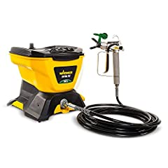 WAGNER AIRLESS PAINT SPRAYER: The Control Pro 130 Power Tank applies coatings 3X faster than a roller with low overspray. It's perfect for painting the exterior of your home, staining a large deck, and more HIGH EFFICIENCY AIRLESS SPRAYER: Produces u...
