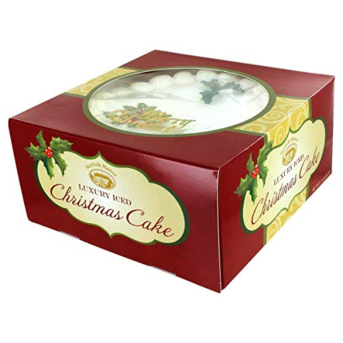 Norfolk Manor English Marzipan Top Iced Christmas Pudding Cake Imported from England 32 oz