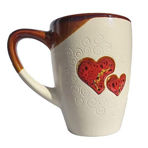 Cupscho Pottery coffee mug 13.3 fl oz White Heart