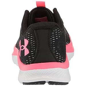 Under Armour Women's Grade School Charged Bandit 7 Running Shoe, Black (001)/White, 7