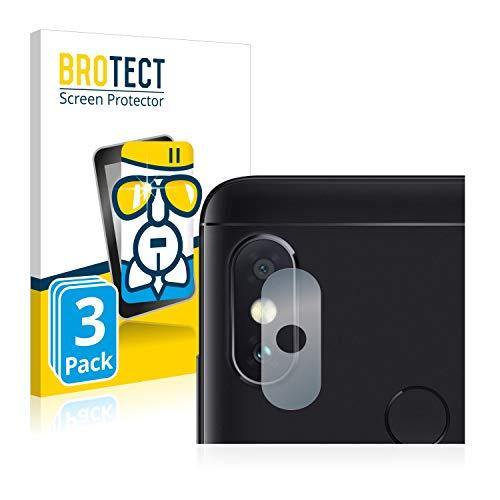 BROTECT Panzerglas Schutzfolie kompatibel mit Xiaomi Mi A2 Lite (NUR Kamera) (3 Stück) - 9H Extrem Kratzfest, Anti-Fingerprint, Ultra-Transparent