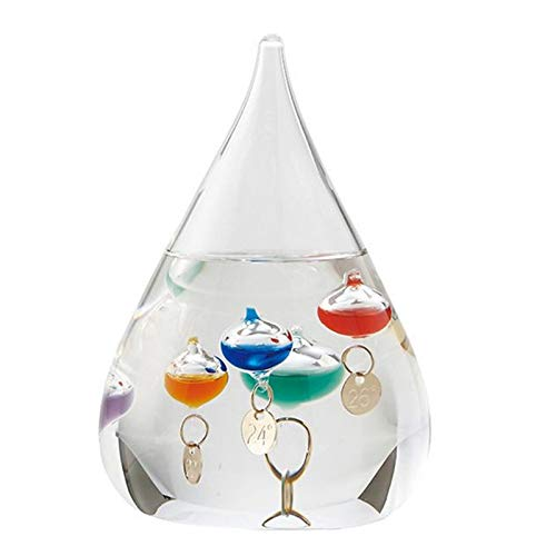 TOPSALE TermóMetro Galileo Gota de Agua PronóStico del Tiempo Botella DecoracióN Creativa Regalo de Cumplea?Os Juguete para Ni?Os