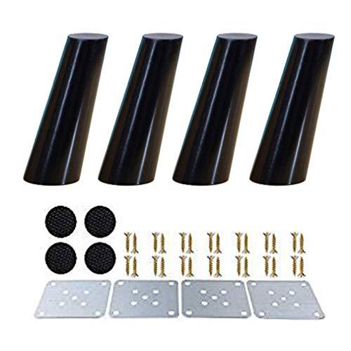 Inicio Accesorios Patas de mesa de madera Patas de muebles de repuesto cónicas inclinadas de madera maciza Patas de sofá para sofá cama Armario Sofá Silla Taburete con placas de montaje y tornillos